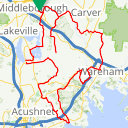 Map image of a Trip from October  1, 2017