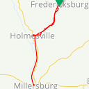 Map image of a Trip from October  8, 2017