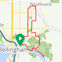 Map image of a Trip from October 14, 2017