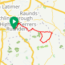 Map image of a Trip from October 15, 2017