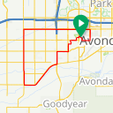 Map image of a Trip from October 17, 2017