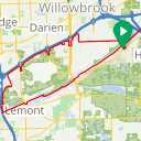 Map image of a Trip from October 19, 2017