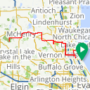 Map image of a Trip from September 29, 2013