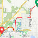 Map image of a Trip from October 28, 2017