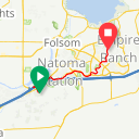 Map image of a Trip from October 30, 2017
