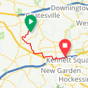 Map image of a Trip from November  2, 2017