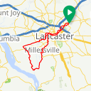 Map image of a Trip from November 12, 2017