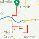 Map image of a Trip from November 28, 2017