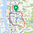 Map image of a Trip from December  9, 2017