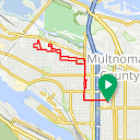 Map image of a Trip from January  1, 2018