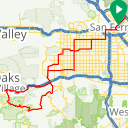 Map image of a Trip from January  6, 2018