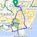 Map image of a Trip from March 25, 2011