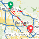 Map image of a Trip from January 15, 2018