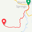 Map image of a Trip from January 25, 2018