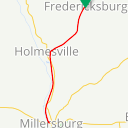 Map image of a Trip from January 29, 2018