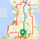 Map image of a Trip from January 30, 2018