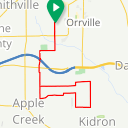 Map image of a Trip from February 27, 2018