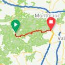 Map image of a Trip from March 13, 2018