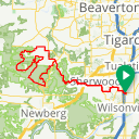 Map image of a Trip from March 14, 2018