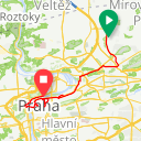 Map image of a Trip from April 11, 2018