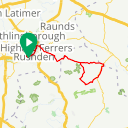 Map image of a Trip from April 18, 2018