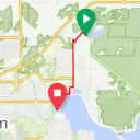 Map image of a Trip from April 24, 2018