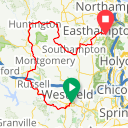 Map image of a Trip from May 10, 2018