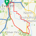 Map image of a Trip from March  9, 2014