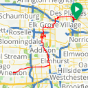 Map image of a Trip from June  9, 2018