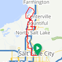 Map image of a Trip from August  8, 2018
