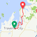 Map image of a Trip from August  9, 2018