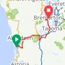 Map image of a Trip from June  2, 2014