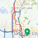 Map image of a Trip from October 17, 2018