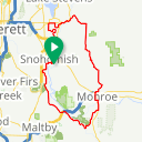 Map image of a Trip from November 10, 2018