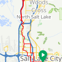 Map image of a Trip from November 14, 2018