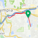 Map image of a Trip from December  3, 2018