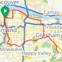 Map image of a Trip from December  8, 2018
