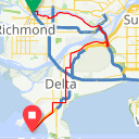 Map image of a Trip from July 14, 2014