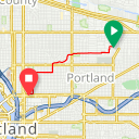 Map image of a Trip from January  8, 2019