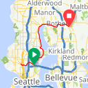Map image of a Trip from January 10, 2019