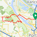 Map image of a Trip from March 13, 2019