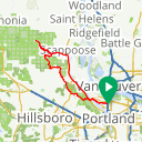 Map image of a Trip from March 16, 2019