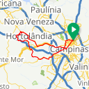 Map image of a Trip from March 24, 2019