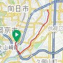 Map image of a Trip from April 11, 2019