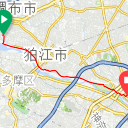 Map image of a Trip from April 18, 2019
