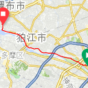 Map image of a Trip from April 19, 2019