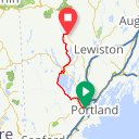 Map image of a Trip from September 14, 2014