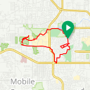 Map image of a Trip from May 19, 2019