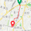 Map image of a Trip from June 10, 2019