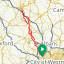 Map image of a Trip from June 19, 2019